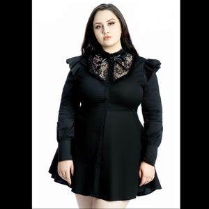 Killstar Wake the Dead Shirt Dress 4X (fits 16-18)